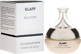 Parfumuri și produse cosmetice Cremă pentru pleoape - Klapp Silk Code Eye Contour Cream