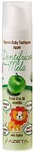 """Parfumuri și produse cosmetice Pastă de dinți pentru copii """"Măr"""" - Azeta Bio Organic Baby Toothpaste Apple"""