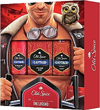 Parfumuri și produse cosmetice Set - Old Spice Capitain Aviator (deo/150ml + ash/lot/100ml + sh/gel/50ml)