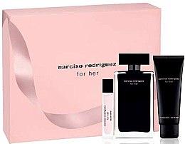 Narciso Rodriguez For Her - Set (edt/100ml + edt/10ml + b/lot/75ml) — Imagine N1