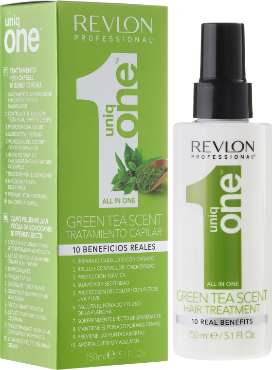 Mască-Spray pentru păr - Revlon Professional Uniq One Green Tea Scent Hair Treatment