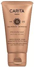 Parfumuri și produse cosmetice Cremă de protecție solară pentru față SPF 10 - Carita Progressif Anti-Age Solaire Protecting And Moisturising Sun Cream For Face