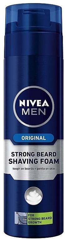 Spumă de ras pentru barbă aspră - Nivea For Men Strong Beard Shaving Foam — Imagine N1