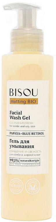 """Gel de curățare pentru față """"Curățare și prospețime"""" - Bisou Matting Bio Facial Wash Gel"""