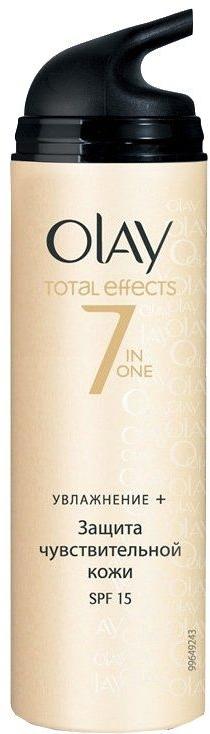 Cremă hidratantă de zi - Olay Total Effects Day Cream Sensitive SPF15  — Imagine N1
