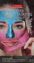 """Parfumuri și produse cosmetice Mască peliculă """"Albastră / Roz"""" - Purederm Galaxy Multi Masking Treatment Blue & Pink"""