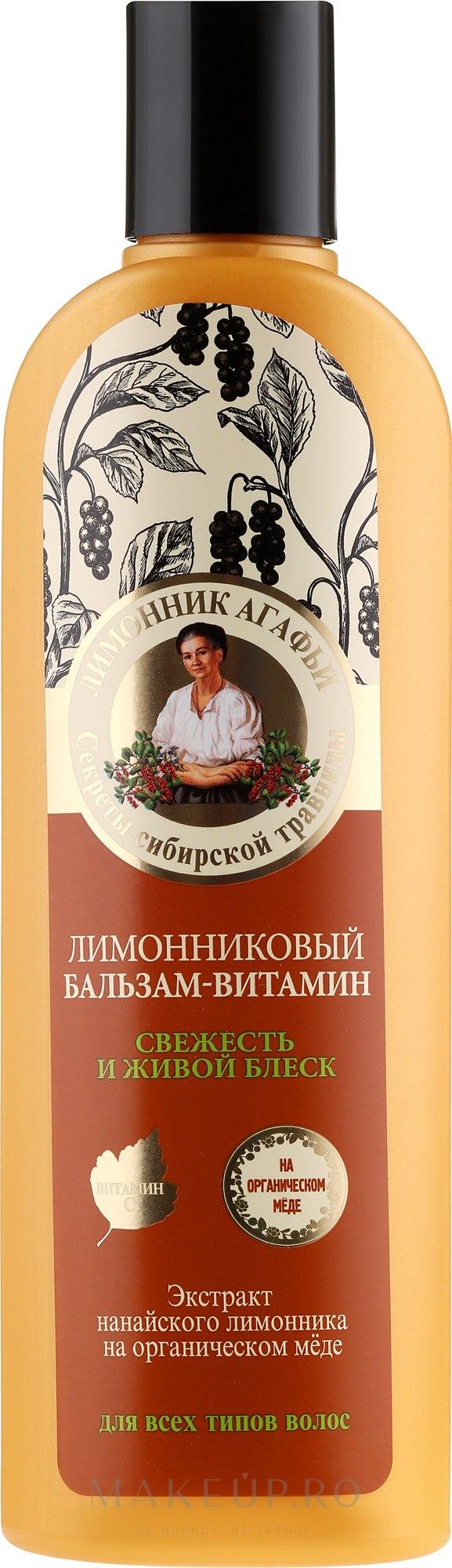"""Balsam de păr """"Prospețime și Strălucire"""" - Reţete bunicii Agafia  — Imagine 280 ml"""
