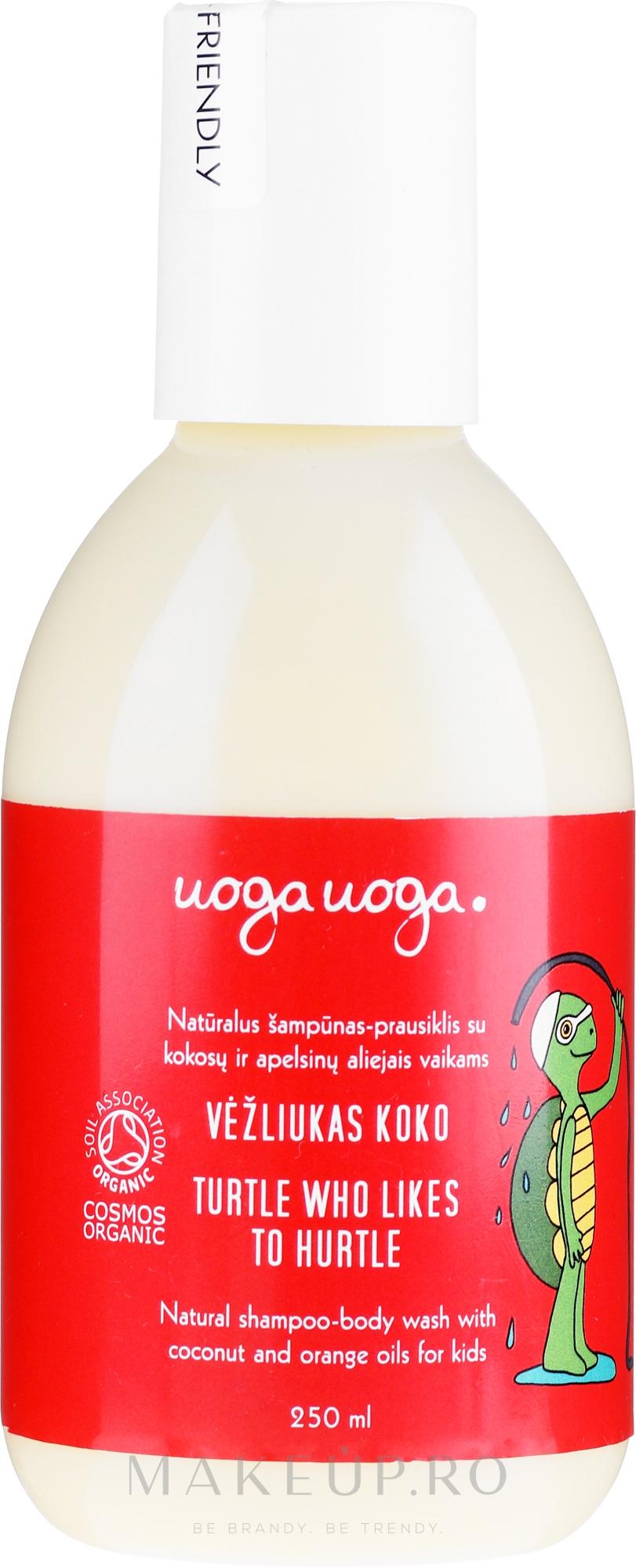 Gel de duș - Uoga Uoga Turtle Who Likes To Hurtle Natural Shampoo-Body Wash — Imagine 250 ml
