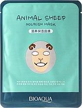"""Parfumuri și produse cosmetice Mască de țesut pentru față în stil bestial """"Mioară"""" - Bioaqua Animal Sheep Nourish Mask"""