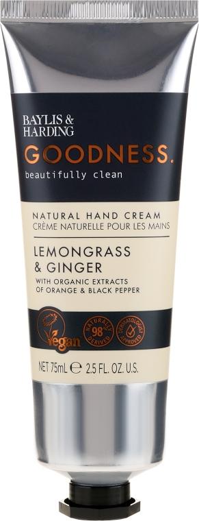 Cremă de mâini - Baylis & Harding Goodness Lemongrass & Ginger Natural Hand Cream