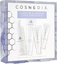 Parfumuri și produse cosmetice Set - Cosmedix Clarifying & Cleansing 4-Piece Essentials Kit (f/cleanser/60ml + f/ser/15ml + f/mask/30g + f/cr/15ml)