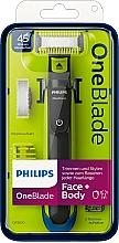 Parfumuri și produse cosmetice Trimmer pentru față și corp - Philips OneBlade Face + Body QP2620/20