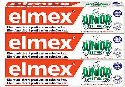 Set - Elmex Junior Toothpaste Set (3xtoothpaste/75ml) — Imagine N1