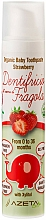 """Parfumuri și produse cosmetice Pastă de dinți pentru copii """"Căpșună"""" - Azeta Bio Organic Baby Toothpaste Strawberry"""