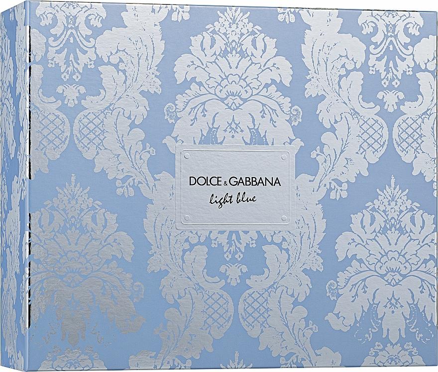 Dolce & Gabbana Light Blue - Set (edt/50ml + b/cr/50ml + edt/10ml) — Imagine N2