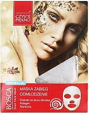 Parfumuri și produse cosmetice Mască de față, cu extract de melc - Czyste Piekno Bosca Snail Face Mask