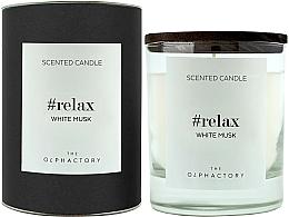 "Parfumuri și produse cosmetice Lumânare parfumată ""Mosc alb"" - Ambientair The Olphactory Relax White Musk Black Design"