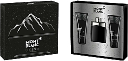 Parfumuri și produse cosmetice Montblanc Legend - Set (edt/100ml + ash/balm/100ml + sh/gel/100ml)