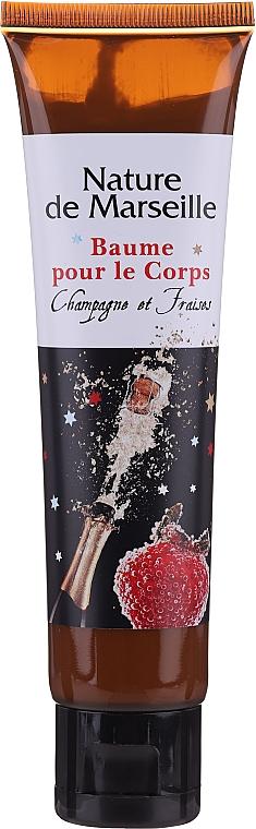 "Set ""Căpșuni și Șampanie"" - Nature De Marseille (sh/gel/150ml +cr/60ml + b/balm/100ml + soap/95g) — Imagine N2"