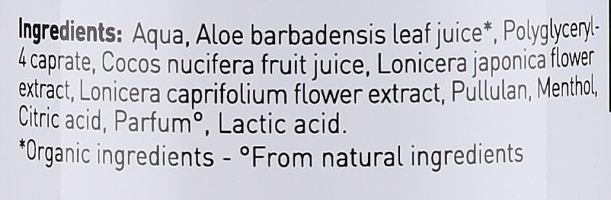 """Spray pentru față și corp """"Apă de cocos și aloe"""" - Bio Happy Face And Body Mist Coconut Water And Aloe — Imagine N3"""