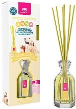 """Parfumuri și produse cosmetice Difuzor aromatic împotriva mirosului animalelor de companie """"Flori albe"""" - Cristalinas Reed Diffuser"""