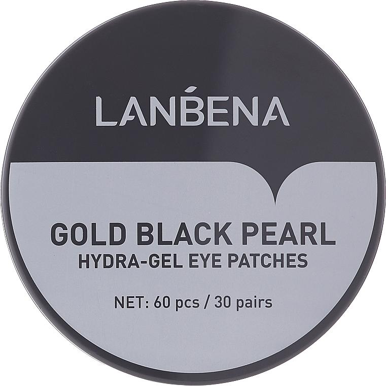 Patch-uri hidrogel cu perle aurii și negre - Lanbena Gold Black Pearl Hydra-Gel Eye Patch