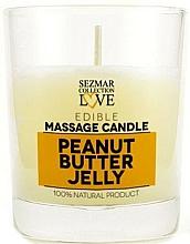 """Parfumuri și produse cosmetice Lumânare naturală pentru masaj """"Jeleu de arahide"""" - Sezmar Collection Peanut Butter Jelly"""