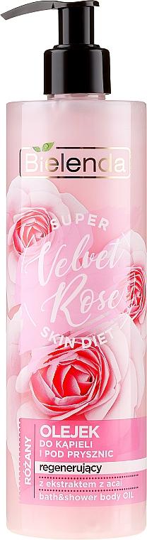 """Gel de duș """"Trandafir"""" - Bielenda Super Skin Diet Velvet Rose — Imagine N1"""
