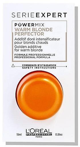Fluid supliment cu pigment auriu pentru păr - L'Oreal Professionnel Expert Powermix Warm Blonde — Imagine N1