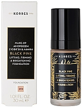 Parfumuri și produse cosmetice Fond de ten - Korres Black Pine Lifting, Firming & Brightening Foundation