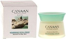 Parfumuri și produse cosmetice Cremă hrănitoare pentru ten normal și gras - Canaan Minerals & Herbs Nourishing Facial Cream Normal to Oily Skin