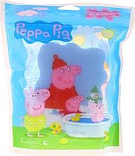 """Parfumuri și produse cosmetice Burete de baie """"Peppa Pig"""", iarna, albastră - Suavipiel Bath Sponge"""