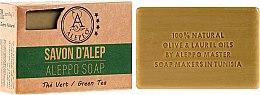 """Parfumuri și produse cosmetice Săpun Alep """"Ceai verde"""" - Alepeo Aleppo Soap Green Tea 8%"""