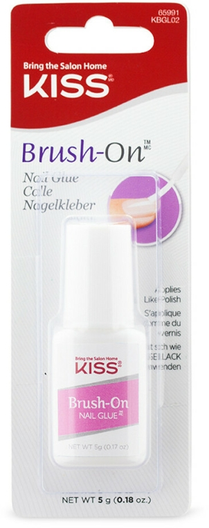 Adeziv pentru unghii false - Kiss Brush-On Glue — Imagine N1