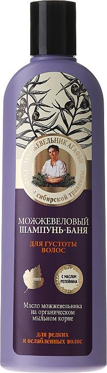 Șampon cu extract de ienupăr împotriva căderii părului - Reţete bunicii Agafia  — Imagine N1