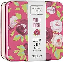 """Parfumuri și produse cosmetice Săpun hidratant în cutie de metal """"Trandafir sălbatic"""" - Scottish Fine Wild Rose Soap In A Tin"""
