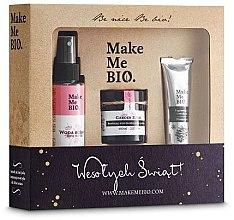 "Parfumuri și produse cosmetice Set ""Garden Roses"" - Make Me Bio (f/cr/60ml + water/100ml + h/cr/30ml)"