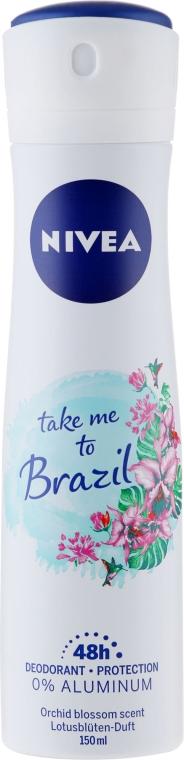 Deodorant-spray antiperspirant - Nivea Take Me To Brazil Spray — Imagine N1