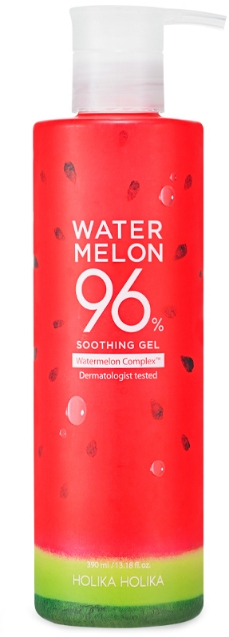 Gel hidratant cu extract de pepene verde pentru față - Holika Holika Watermelon 96% Soothing Gel