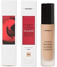 Parfumuri și produse cosmetice Fond de ten - Korres Wild Rose Brightening Second Skin Foundation SPF15