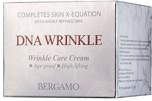 Cremă anti-îmbătrânire pentru față - Bergamo Dna Wrinkle Face Cream