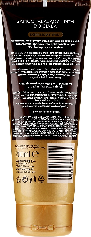 Cremă-autobronzant pentru corp - Kolastyna Luxury Bronze Tanning Cream — Imagine N2