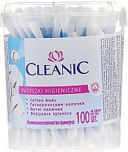 """Parfumuri și produse cosmetice Bețișoare din bumbac """"Classic"""", 100 buc. - Cleanic Face Care Cotton Buds"""