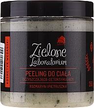 """Parfumuri și produse cosmetice Scrub-detox de curățare pentru corp """"Rozmarin și Pătrunjel"""" - Zielone Laboratorium"""