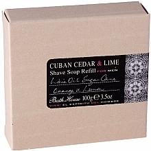 Parfumuri și produse cosmetice Bath House Cuban Cedar & Lime - Săpun de ras (rezervă)