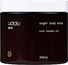 Parfumuri și produse cosmetice   Scrub de zahăr cu ulei de tsubaki pentru corp - Uddo Sugar Body Scrub With Tsubaki Oil
