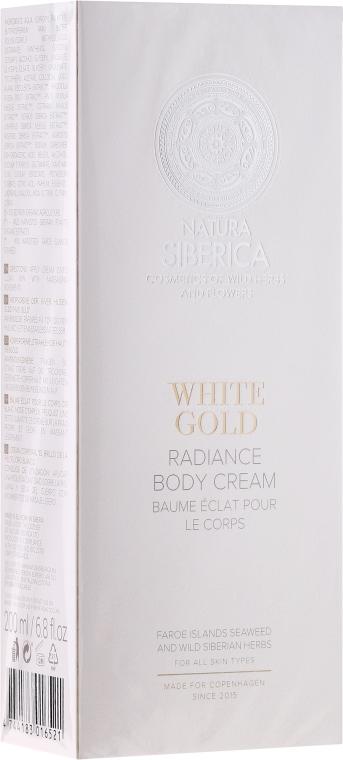 Crema fină de corp - Natura Siberica Copenhagen White Gold Radiance Body Cream — Imagine N1