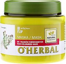 Parfumuri și produse cosmetice Mască pentru păr vopsit cu extract de cimbru - O'Herbal
