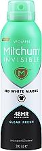 Parfumuri și produse cosmetice Deodorant-antiperspirant pentru femei - Mitchum Invisible Women 48HR Protection Clear Fresh Antiperspirant & Deodorant