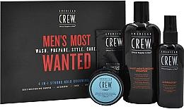 Parfumuri și produse cosmetice Set - American Crew Men's Most Wanted Strong Hold (shm/250ml + cr/50g + spray/100ml + balm/7.4ml)